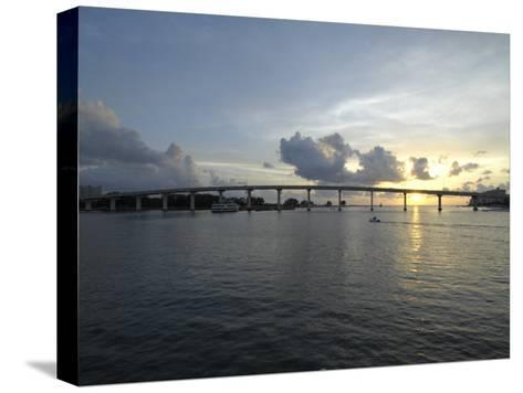 Clearwater Pass Bridge from Sand Key to Clearwater Beach at Sunset-Scott Sroka-Stretched Canvas Print
