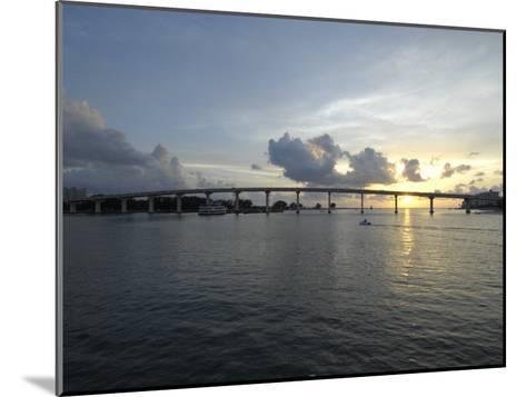 Clearwater Pass Bridge from Sand Key to Clearwater Beach at Sunset-Scott Sroka-Mounted Photographic Print
