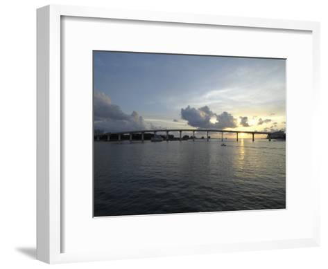 Clearwater Pass Bridge from Sand Key to Clearwater Beach at Sunset-Scott Sroka-Framed Art Print