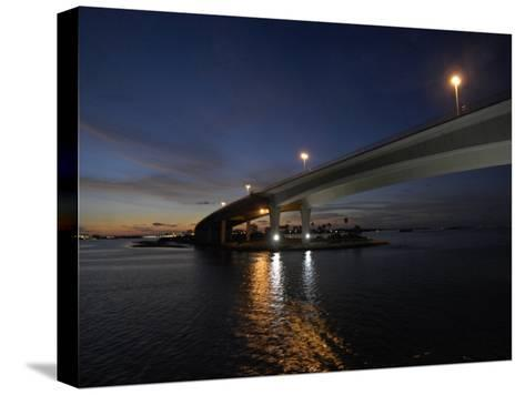 Looking West under the Clearwater Beach Causeway at Twilight-Scott Sroka-Stretched Canvas Print