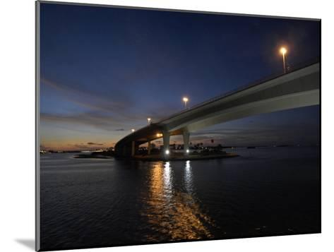 Looking West under the Clearwater Beach Causeway at Twilight-Scott Sroka-Mounted Photographic Print