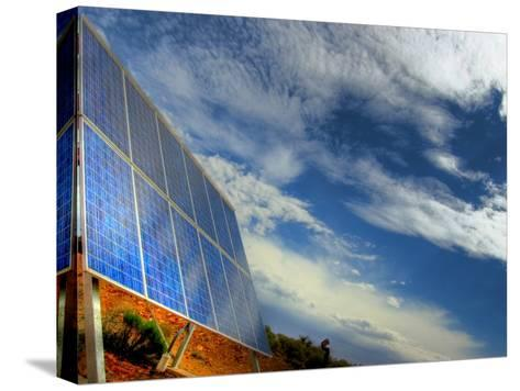 Solar Panel in the Desert of South Australia-Brooke Whatnall-Stretched Canvas Print
