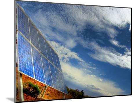 Solar Panel in the Desert of South Australia-Brooke Whatnall-Mounted Photographic Print