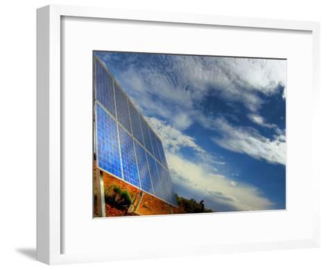Solar Panel in the Desert of South Australia-Brooke Whatnall-Framed Art Print