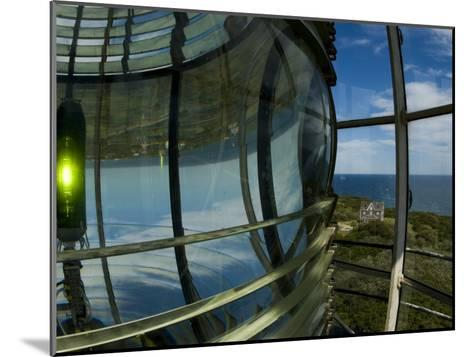 Looking Out from Atop Southeast Light with Beacon Illuminated-Todd Gipstein-Mounted Photographic Print