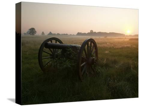 Cannon at the Gettysburg Battlefield-Michael Melford-Stretched Canvas Print