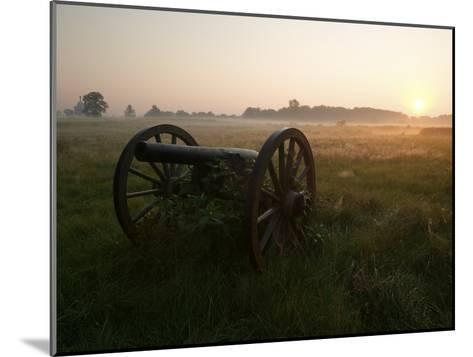 Cannon at the Gettysburg Battlefield-Michael Melford-Mounted Photographic Print