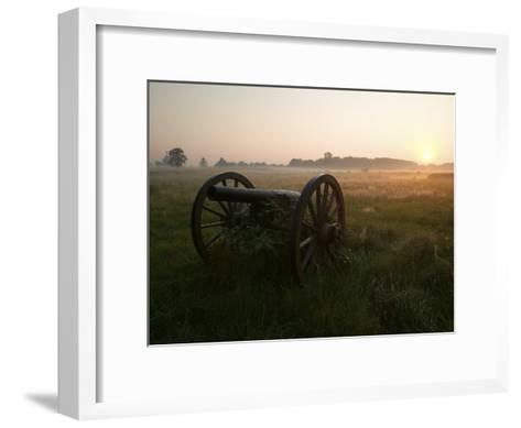 Cannon at the Gettysburg Battlefield-Michael Melford-Framed Art Print