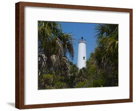 Lighthouse on the Edge of Tampa Bay-Stacy Gold-Framed Art Print