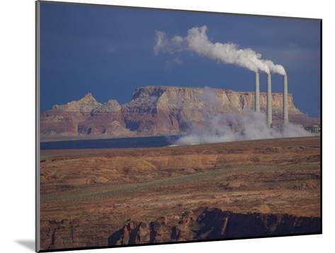 Steam Billows from Chimneys of the Navajo Power Plant-Michael Melford-Mounted Photographic Print