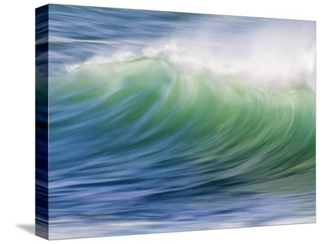 Breaking Wave in Blue and Green Atlantic Water-Michael Melford-Stretched Canvas Print