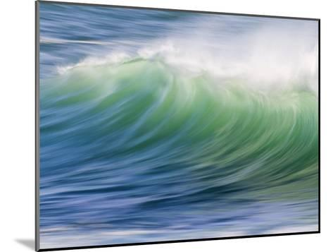 Breaking Wave in Blue and Green Atlantic Water-Michael Melford-Mounted Photographic Print
