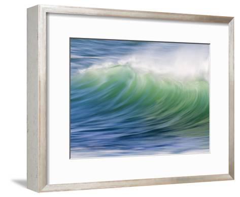 Breaking Wave in Blue and Green Atlantic Water-Michael Melford-Framed Art Print