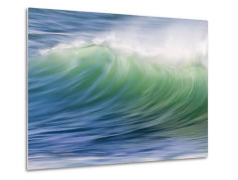 Breaking Wave in Blue and Green Atlantic Water-Michael Melford-Metal Print