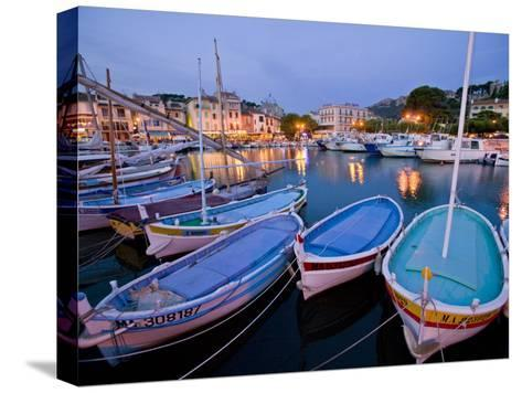 Boats Moored in the Harbor of Cassis-Michael Melford-Stretched Canvas Print