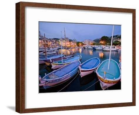 Boats Moored in the Harbor of Cassis-Michael Melford-Framed Art Print