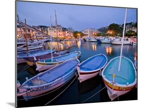 Boats Moored in the Harbor of Cassis-Michael Melford-Mounted Photographic Print