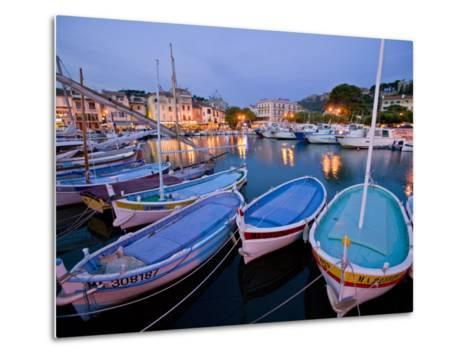 Boats Moored in the Harbor of Cassis-Michael Melford-Metal Print