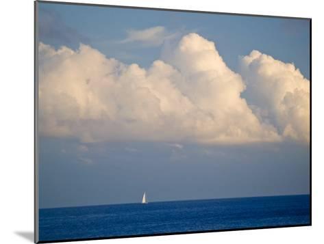 Lone Sailboat Sailing Along the Horizon in France-Michael Melford-Mounted Photographic Print