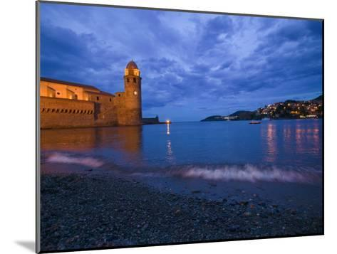 Surf on the Beach Near the Entrance to the Harbor of Collioure-Michael Melford-Mounted Photographic Print