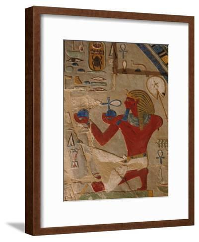 Painted Relief of Thutmosis Iii in the Main Sanctuary of Amun-Re-Kenneth Garrett-Framed Art Print