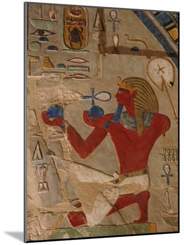 Painted Relief of Thutmosis Iii in the Main Sanctuary of Amun-Re-Kenneth Garrett-Mounted Photographic Print