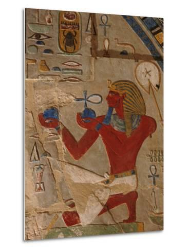 Painted Relief of Thutmosis Iii in the Main Sanctuary of Amun-Re-Kenneth Garrett-Metal Print