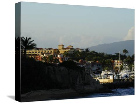 Seaside Resort of Palmas Del Mar and Marina-Raul Touzon-Stretched Canvas Print