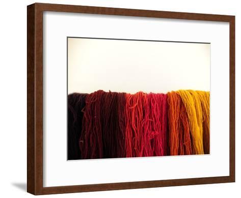 Wool Yarn for Traditional Weaving-Raul Touzon-Framed Art Print