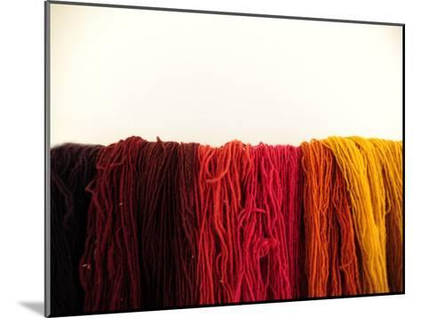 Wool Yarn for Traditional Weaving-Raul Touzon-Mounted Photographic Print