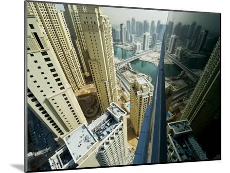 Cityscape of High Rises and Waterways in Downtown Dubai-Mattias Klum-Mounted Photographic Print