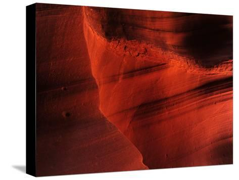 Sunlight and Shadows in a Cave at Antelope Pass-Raul Touzon-Stretched Canvas Print