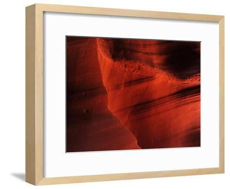 Sunlight and Shadows in a Cave at Antelope Pass-Raul Touzon-Framed Art Print