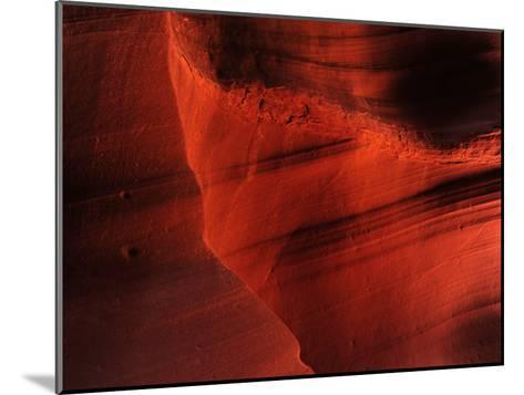 Sunlight and Shadows in a Cave at Antelope Pass-Raul Touzon-Mounted Photographic Print