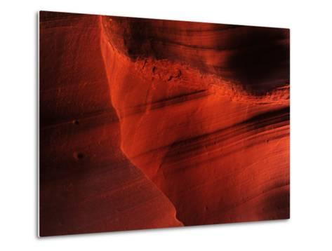 Sunlight and Shadows in a Cave at Antelope Pass-Raul Touzon-Metal Print