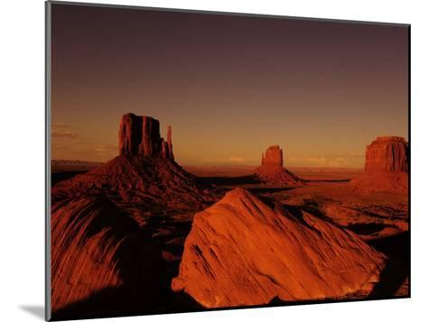 Buttes in Monument Valley at Sunset-Raul Touzon-Mounted Photographic Print