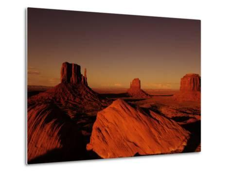 Buttes in Monument Valley at Sunset-Raul Touzon-Metal Print