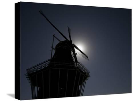 Dutch Windmill in Holland, Mi-Tim Laman-Stretched Canvas Print