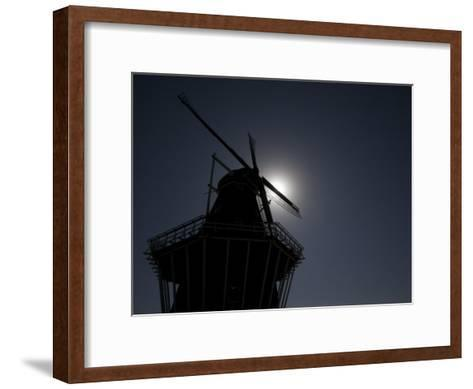 Dutch Windmill in Holland, Mi-Tim Laman-Framed Art Print