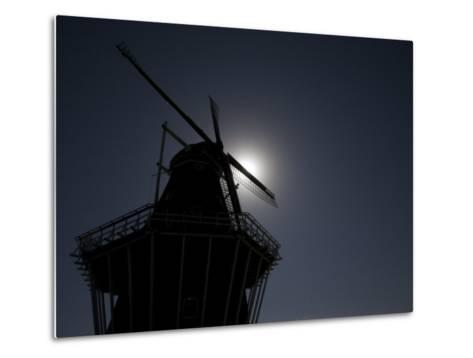 Dutch Windmill in Holland, Mi-Tim Laman-Metal Print