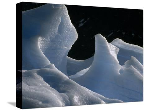 Deep Blue Pressure Veins Run Through an Iceberg Near Glacier Grey-Jason Edwards-Stretched Canvas Print