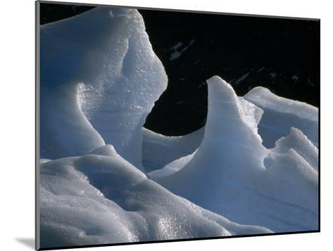 Deep Blue Pressure Veins Run Through an Iceberg Near Glacier Grey-Jason Edwards-Mounted Photographic Print
