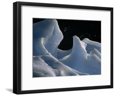 Deep Blue Pressure Veins Run Through an Iceberg Near Glacier Grey-Jason Edwards-Framed Art Print
