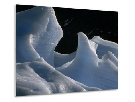 Deep Blue Pressure Veins Run Through an Iceberg Near Glacier Grey-Jason Edwards-Metal Print