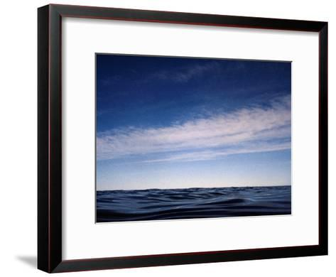 Fishes View of an Inky Pacific Ocean Surface on a Calm Day-Jason Edwards-Framed Art Print