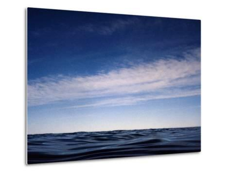 Fishes View of an Inky Pacific Ocean Surface on a Calm Day-Jason Edwards-Metal Print