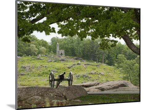 Cannon at Gettysburg Battlefield Protects Little Round Top-Greg Dale-Mounted Photographic Print