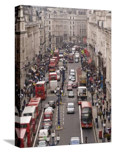 Aerial View of Traffic in Downtown London-xPacifica-Stretched Canvas Print