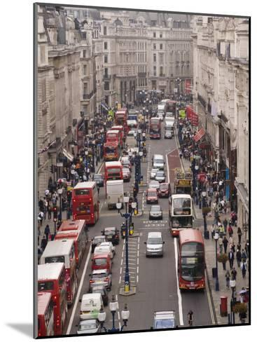 Aerial View of Traffic in Downtown London-xPacifica-Mounted Photographic Print