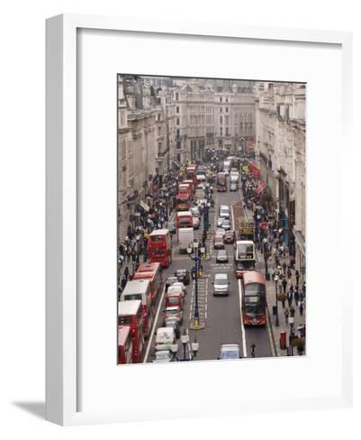 Aerial View of Traffic in Downtown London-xPacifica-Framed Art Print